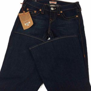 True Religion Dark Wash Carrie Flared Jeans NWT
